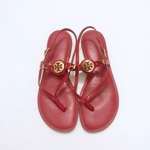 Tory Burch Patent Leather Thong Sandal